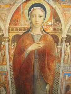 Medieval Painting of Saint Clare